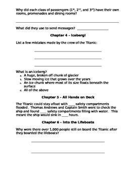 Titanic - Magic Tree House novel study