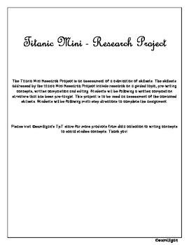 Titanic Mini-Research Project