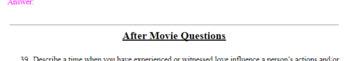 Titanic Movie Worksheet (Pair with Romeo & Juliet)