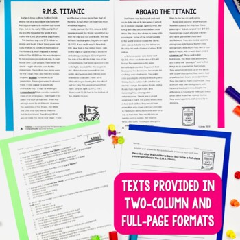 Paired Texts / Paired Passages: Titanic Grades 4-8