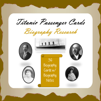 Titanic Passenger Biography Cards & Research