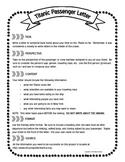 Titanic Passenger Letter Instructions