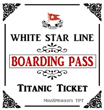 Titanic Passenger Tickets By Sheena Morris