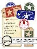 Titanic Printable Luggage Tags