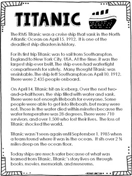 Titanic - Read All About It!