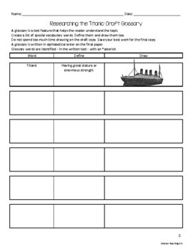 Titanic: Reading, Writing, Research
