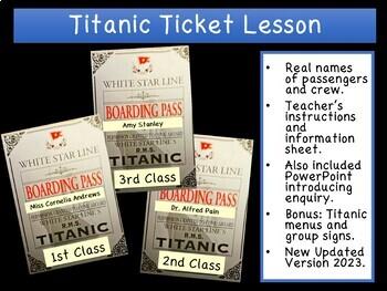 Titanic Starter Activity - Tickets