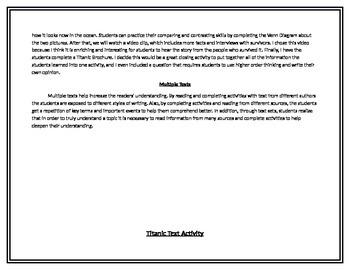 Titanic Text Set