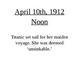 Titanic Timeline FREEBIE