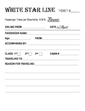 Titanic Unit: Lesson Plans and Printable Activities