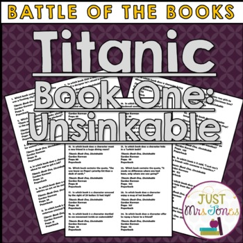 Titanic Unsinkable Battle of the Books Trivia Questions