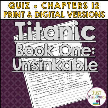Titanic Unsinkable Quiz