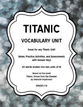 Titanic Vocabulary Unit