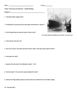 Titanic: Voices From the Disaster Ch. 1 - Guided Reading / Close Read