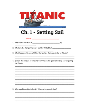Titanic: Voices from the Disaster Chapter Questions 1-14