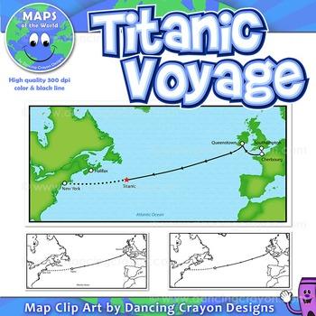 Titanic Voyage: Map of the Titanic Voyage