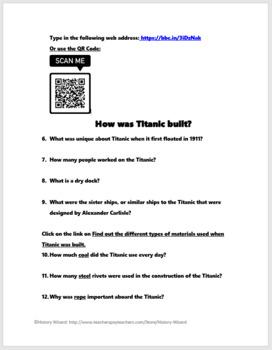 Titanic Interactive Webquest