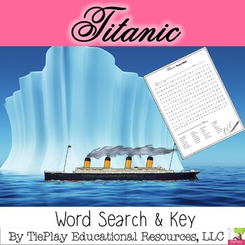 Titanic Word Search and Key
