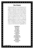 Titanic Wordsearch