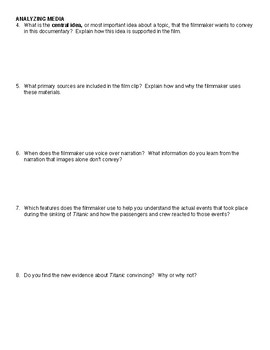 Titanic at 100 Comprehensive study Guide
