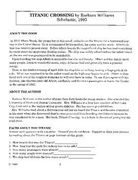 Titantic Crossing Literature Guide