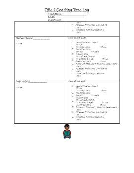 Title 1 Literacy Coaching Log