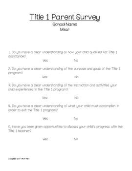 Title 1 Survey Bundle