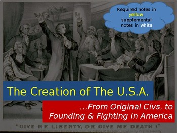 Early Settlers & the American Revolution PowerPoint Presentation (PART 2 of 2)
