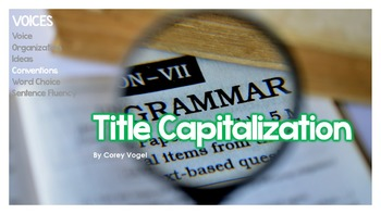 Title Capitalization (Capitalizing Words in Story Titles)