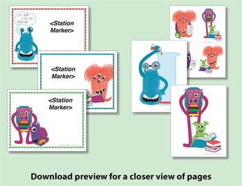 Name Tags & Classroom Decorations - Monster Themed