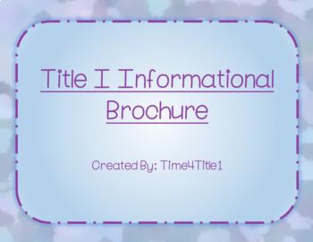 Title 1 Informational Brochure
