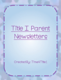 Title I Parent Newsletters