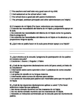 Title III ESOL Parent Needs Assessment