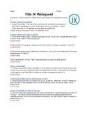 Title IX Webquest