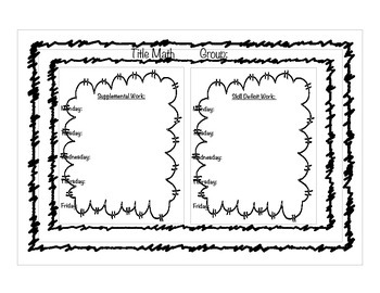 Title Math Lesson Plan Template