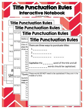 Title Punctuation Rules - Interactive Notebook