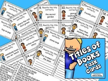 Titles of Books Task Cards $$$ Savings BUNDLE for Grades 2-4