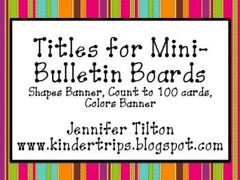 Titles for Mini-Bulletin Boards