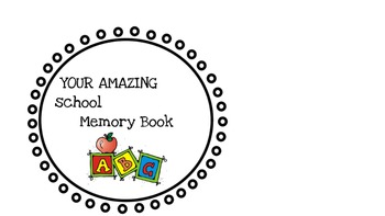 Titles for an end of the year memory book , full color , EDITABLE