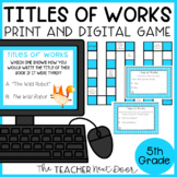 Titles of Works Game Print and Digital Distance Learning