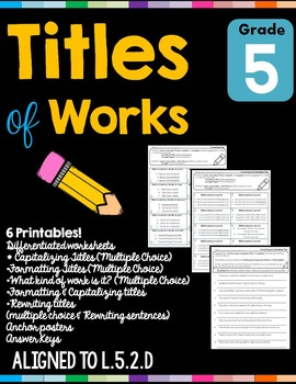 Titles of Works L.5.2.D