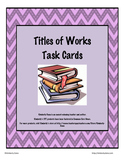 Titles of Works Teach and Reach Bundle