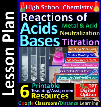 Titration & Neutralization Reactions - Worksheets & Practice Questions HS Chem