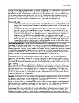 Titus Andronicus Lesson Plan