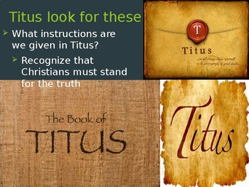 Titus Power Point Notes