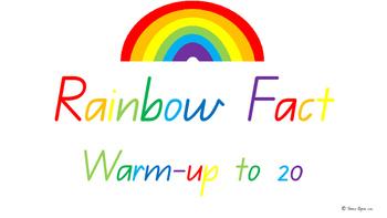 To 20 Rainbow Fact/ Bridging to ten/ Make to ten  Classroom Math Warm-up: