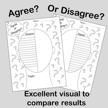 To Agree or Disagree?? Graphic Organizer