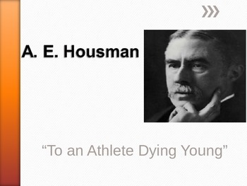 To An Athlete Dying Young