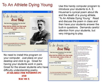 To An Athlete Dying Young -- A. E. Housman Windows PC Software