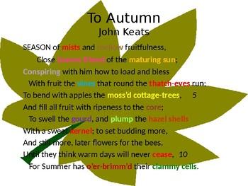 To Autumn - Keats (Group Activity)